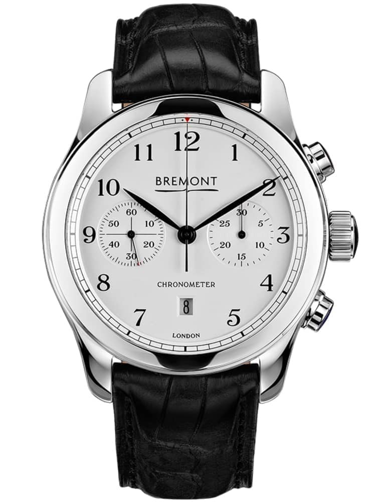 Bremont ALT1-C CLASSIC Polished White Dial Strap Watch