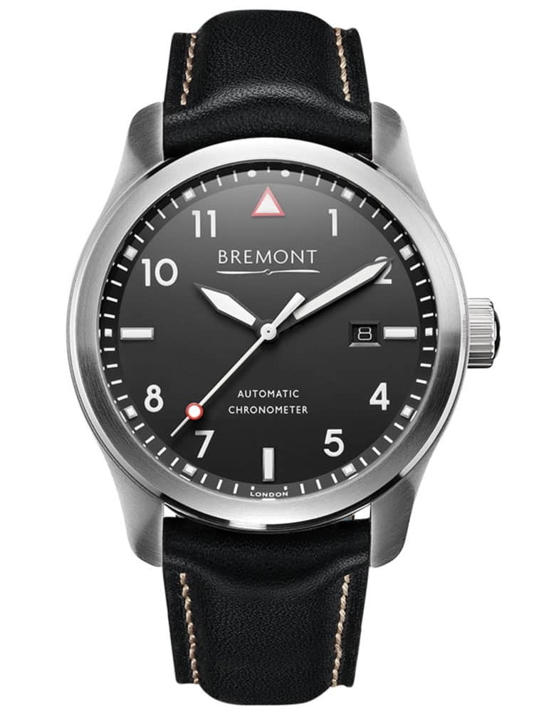 Bremont SOLO White on Black Dial Strap Watch