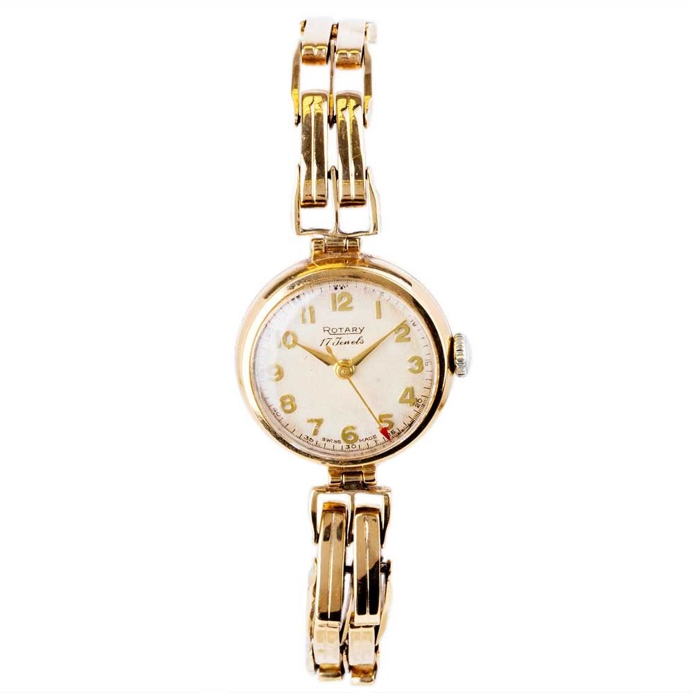 Pre Owned RotaryPre 9ct Gold Ladies Vintage Rotary Watch 4118009