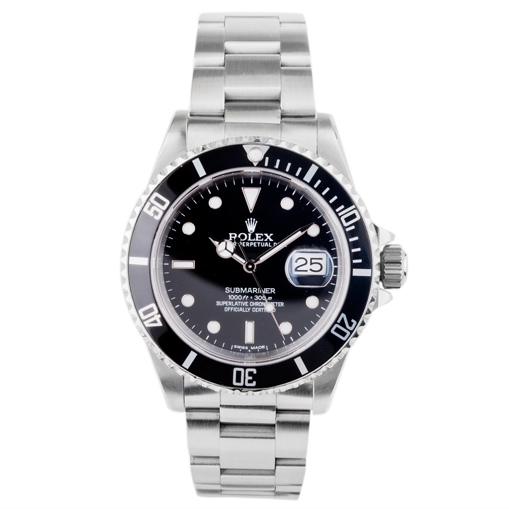 Pre owned rolex mens oyster perpetual submariner watch 4118015 for Submarine watches