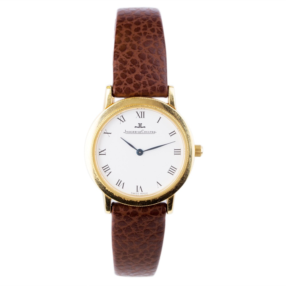 Pre-Owned Jaeger LeCoultre 18ct Yellow Gold Strap Watch
