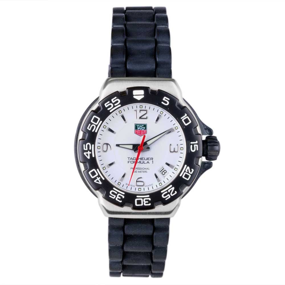 pre owned tag heuer mens formula 1 rubber 4118021