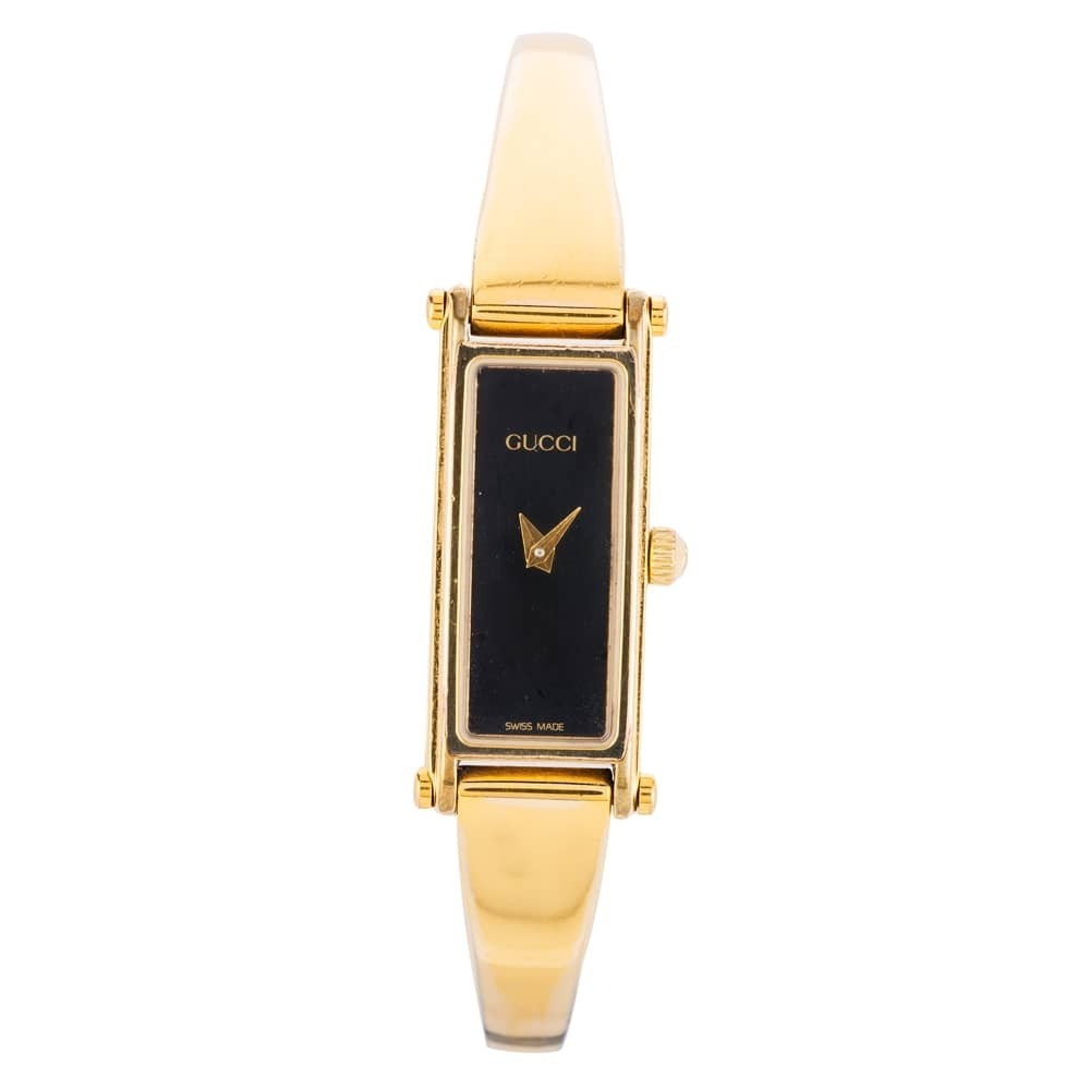 6a077f827 Pre-Owned Gucci Ladies Gold Plated Bangle Watch 4118205