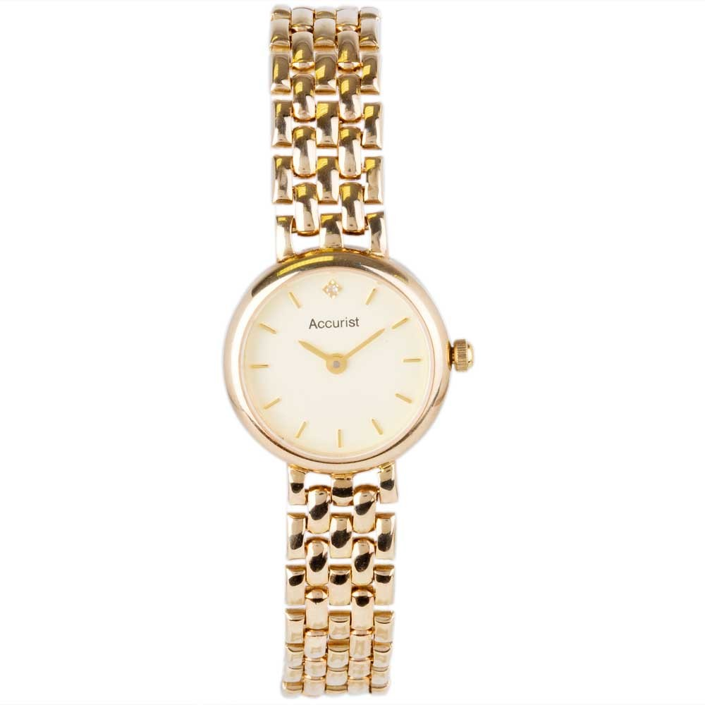 pre owned accurist 9ct yellow gold 4181712