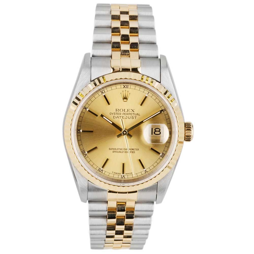 pre owned rolex mens oyster perpetaul datejust 16233