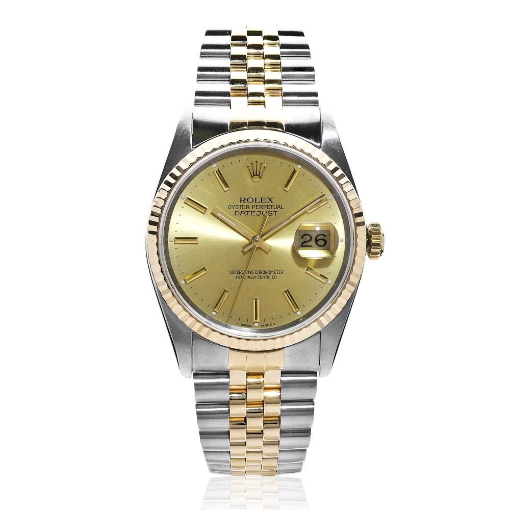pre owned rolex mens oyster perpetual datejust 16233