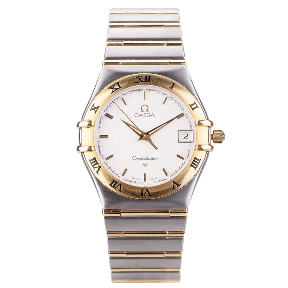 57af0872a9818 Pre-Owned Omega Mens Constellation Two Tone Watch 4406026