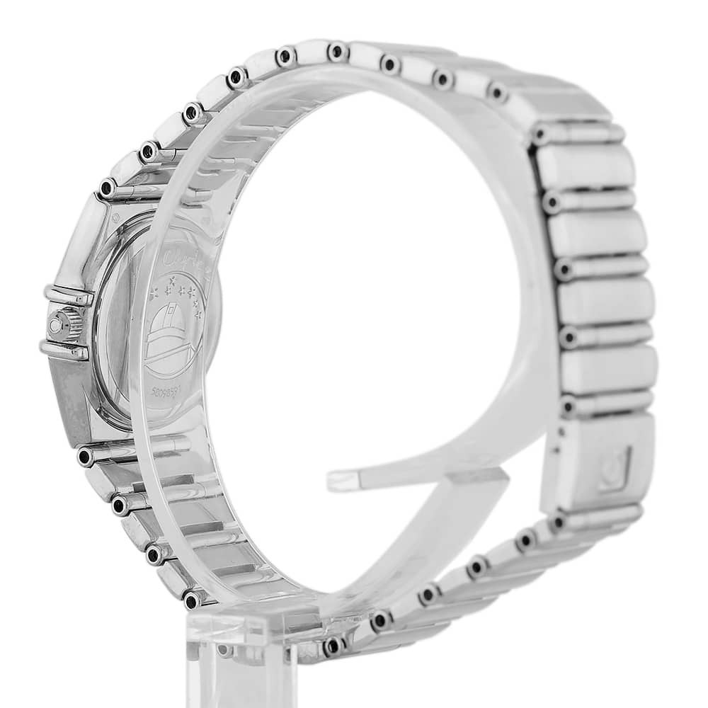 0cd9506e7e72c Pre-Owned Omega Constellation My Choice 18ct White Gold Diamond Set Blue  Bracelet Watch B511620(444)