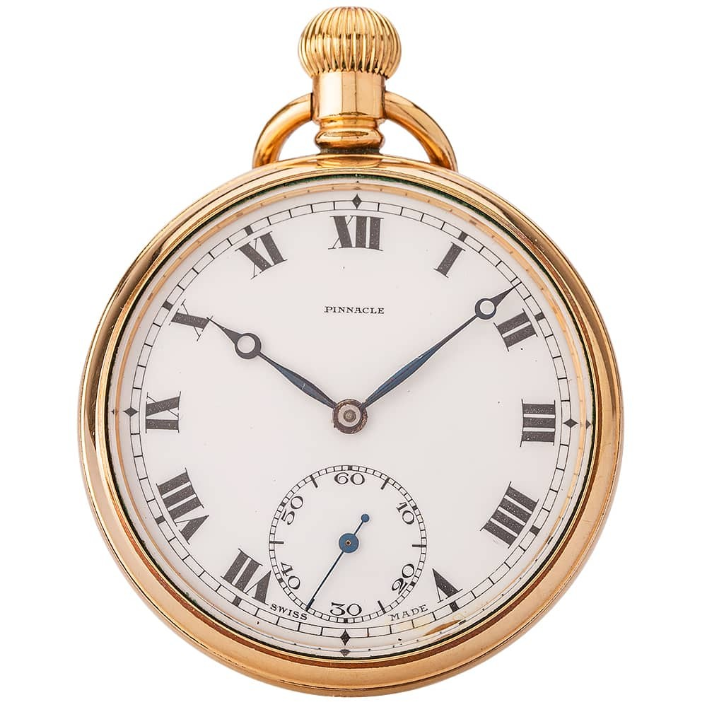 Pre-Owned Pinnacle Swiss Made Open Case Pocket Watch
