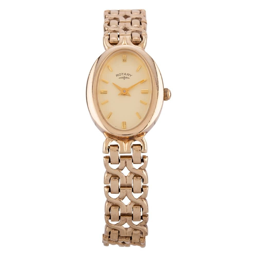 Pre-Owned Rotary 9ct Yellow Gold Bracelet Watch