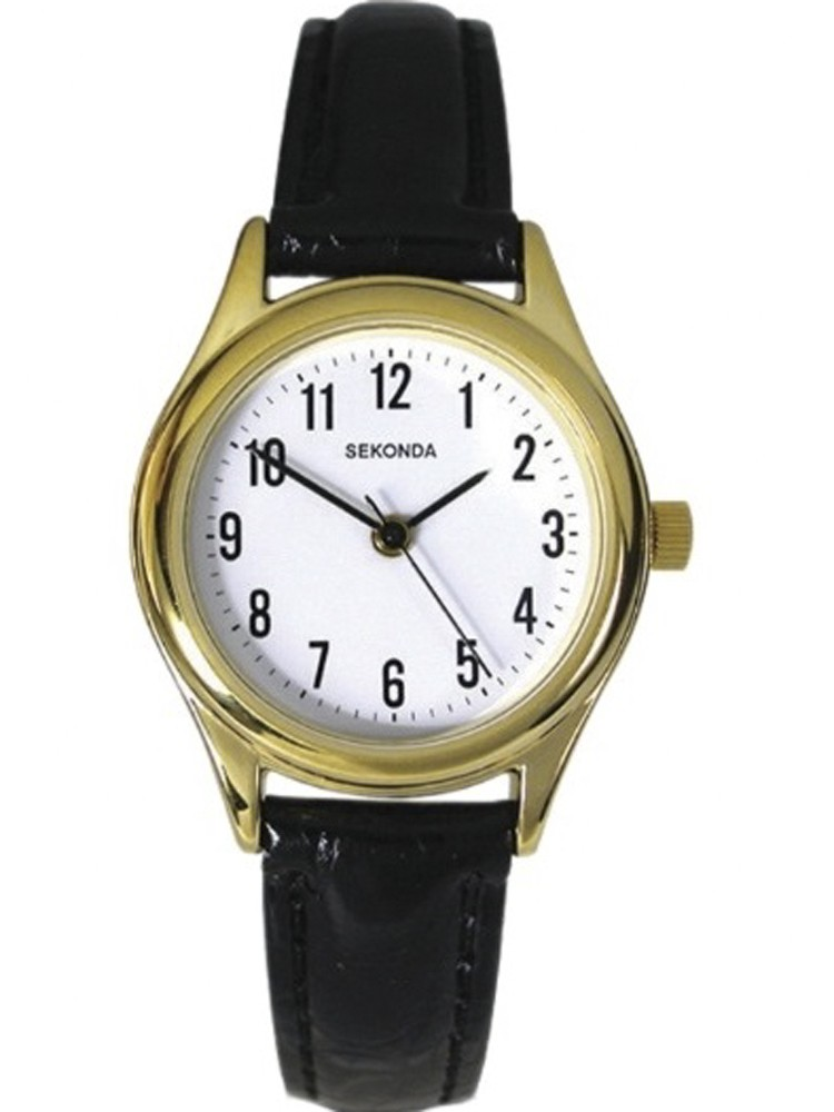 Sekonda Ladies Gold Plated Strap Watc