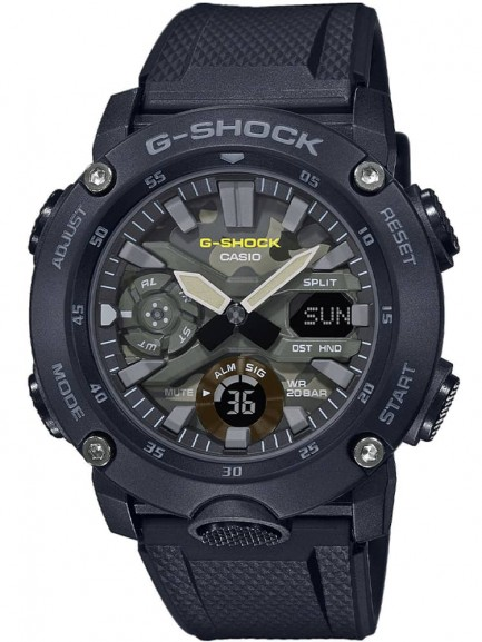 Casio G-Shock Classic Dual Display Chronograph Camouflage Strap Watch