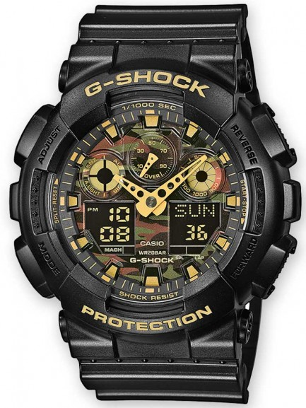 Casio G-Shock Classic Dual Display Camouflage Plastic Strap Watch