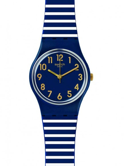Swatch Ladies Ora Daria Blue Strap Watch