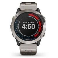 Garmin Quatix 6X Solar Edition Titanium Bracelet Smartwatch 010-02157-31