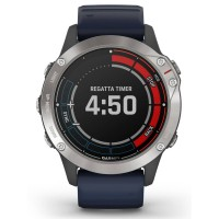 Garmin Quatix 6 Captain Blue Rubber Strap Smartwatch 010-02158-91