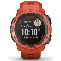 Garmin Instinct Solar Flame Red Rubber Strap Smartwatch 010-02293-20