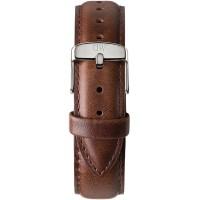 Daniel Wellington Classic 20 Bristol Silver Brown Leather Watch Strap 0409DW