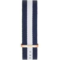 Daniel Wellington Classic 18 Glasgow Rose Gold Blue & White NATO Watch Strap 0703DW