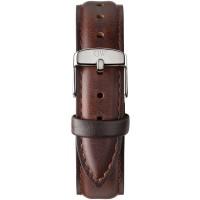 Daniel Wellington Classic 18 Bristol Silver Brown Leather Watch Strap 0811DW