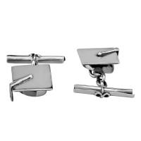 Sterling Silver Mortar Board Cufflinks SCH4723