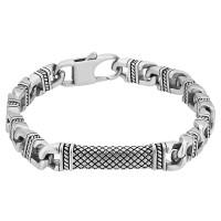 Bourne and Wilde Mens Textured Curb Link Bracelet UR27-01