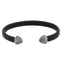 Bourne and Wilde Mens Leather Open Bangle UR31-01