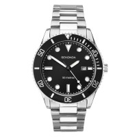 Sekonda Mens Black Date Dial Bracelet Watch 1788