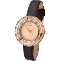 Seksy Sekonda Ladies Brown Leather Strap Watch 2076