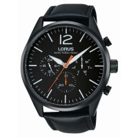 Lorus Mens Black Chronograph Watch RX403AX9