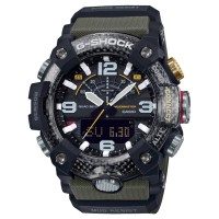 Casio G-Shock Master Of G Mudmaster Carbon Core Guard Dual Display Green Plastic Strap Smartwatch GG-B100-1A3ER