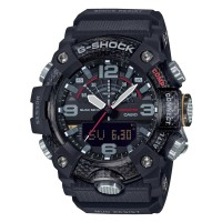 Casio G-Shock Master Of G Mudmaster Carbon Core Guard Dual Display Black Plastic Strap Smartwatch GG-B100-1AER