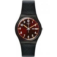 Swatch Unisex Sir Red Strap Watch GB753