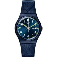 Swatch Unisex Sir Blue Strap Watch GN718