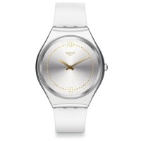 Swatch Skindoree Stainless Steel White Rubber Strap Watch SYXS108