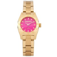 Superdry Ladies Mini Steel Watch SYL158PGM