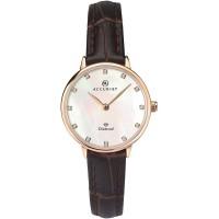 Accurist Ladies Rose Gold Tone Diamond Watch 8210