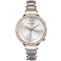 Accurist Ladies Pure Brilliance Two Tone Stone Set Bracelet Watch 8341
