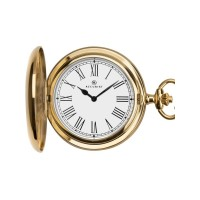 Accurist Gold Plated Round Full Hunter Pocket Watch 7281