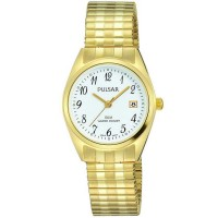Pulsar Ladies Gold Plated Expandable Watch PH7444X1