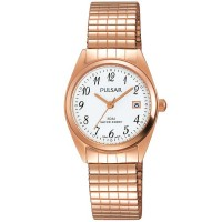 Pulsar Ladies Rose Gold Plated Expandable Watch PH7446X1