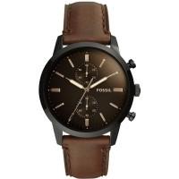 Fossil Mens Townsman Brown Strap Watch FS5437