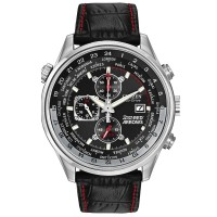 Citizen Mens Chronograph Red Arrows Black Leather Strap Watch CA0080-03E