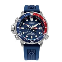 Citizen Mens Promaster Aqualand Diver Blue Rubber Strap Watch BN2038-01L