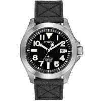 Citizen Mens Promaster Tough Super Titanium Black Dial Kevlar Strap Watch BN0118-04E