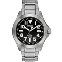 Citizen Mens Promaster Tough Super Titanium Black Date Dial Bracelet Watch BN0118-55E