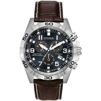 Citizen Eco-Drive Super Titanium Brown Leather Strap Watch BL5551-06L