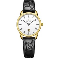 Dreyfuss and Co Ladies 1980 Gold Plated Leather Watch DLS00136/01