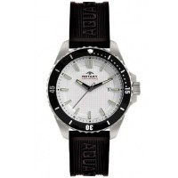 Rotary Mens Black Rubber Strap Watch AGS00293/06