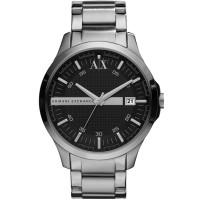 Armani Exchange Mens Silver Black Dial Bracelet Watch AX2103